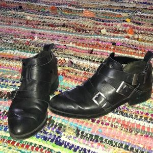 Leather 3 Buckled Booties